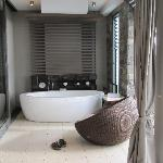 Cleopatra tub on outdoor patio....