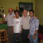 My friend and I with some of the staff at the Khmer Delight Restaurant