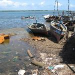 Rubbish at dockside