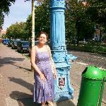 Old street water pump in town