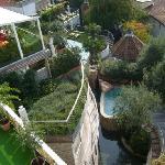 Außenbereich der Olivensauna