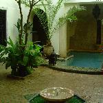 Cour intérieur et piscine