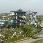 View of wet n wild waterpark from room 706