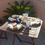 Breakfast on our private terrace