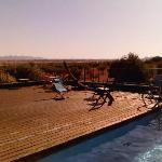 Puesta de sol en la piscina