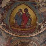 Église de Notre-Dame- la- Grande: intérieur, peintures des voûtes de l'abside