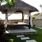 cabana next ot the pool