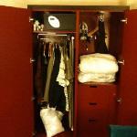 the inside of the closet