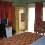 Vue de notre chambre au Busua Beach Resort (3)