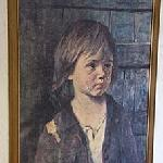Exquisite artwork in bedroom - the crying boy series! lol