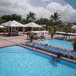 piscine vue du balcon