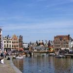 The most beatiful area in Ghent - Koornlei and Graslei; Street of the wheat and Street of the He