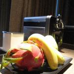 Free fruits and Nespresso Machine