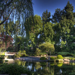 Entrance to Earl Burns Miller Japanese Garden CSULB