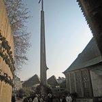 memorial cross where Joan of Arc burned at the stake