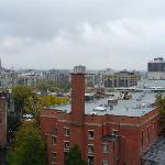 Vista desde la ventana del hotel