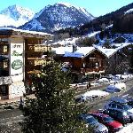The main hotel as seen from the balony in the chalet across the road