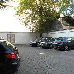 parking lot at Hotel Muller