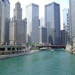 Chicago River, along Wacker Drive!