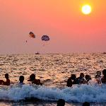 personalized beach - Calangute at sunset