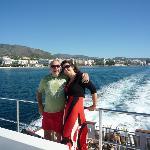 On the catamaran ferry to Puerto Banus