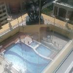 Swimming pool viewed from the 17th floor