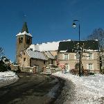 L'église de Murat le Quaire hiver 2008