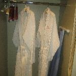 Robes for after the shower.