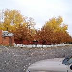 Autumn colors behind the Hillcrest Motel