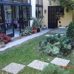 Garden area of the hotel