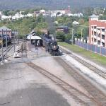 View over the train yard