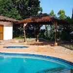 Pool and kubo at Sarimanok villa B&B