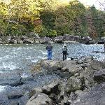 Fishing - Gauley River rapids
