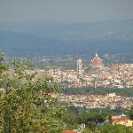The view of Florence and the Duomo from La Limonaia's garden