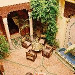Courtyard from the first floor balcony