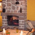 restaurant et sa cheminée