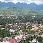 View of Luang Prabang, Amantaka in right half of picture