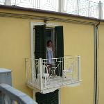 Io sul balcone