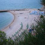 Spiaggia vista dal parcheggio