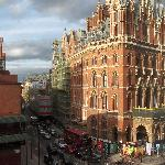 View of St Pancras Station from our room