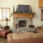 family room of the cabin
