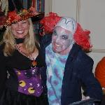 Us at the Hawthorne Hotel Ball on Halloween!