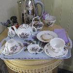 Das Teetablett mit hausgemachten Keksen
