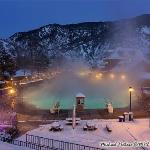 Glenwood Hot Springs, Glenwood Springs Colorado. Nestled in the mountains along the Colorado Riv