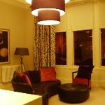 The sitting room, looking at the window