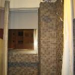 Shower area with rain and hand shower