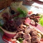 Goose gizzard salad, regional specialty