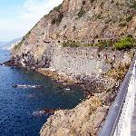 along the coast o f Cinque Terre