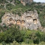Dalyan is famous for the ruins of Kaunos.  These Lycian King Tombs date back to 400 BC.   We saw