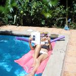 Relaxing in the pool at Casa Silas